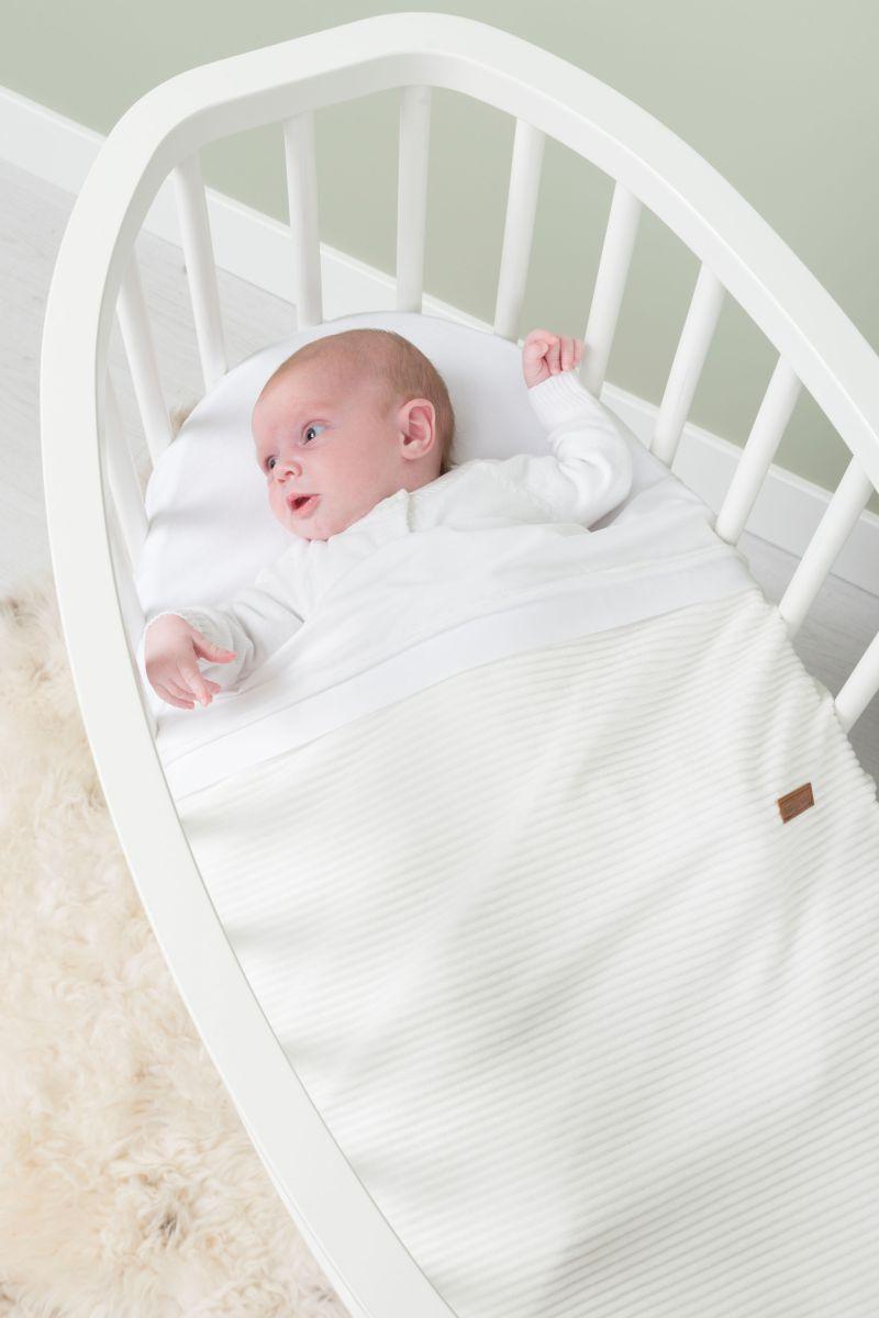 couverture berceau teddy sense blanc