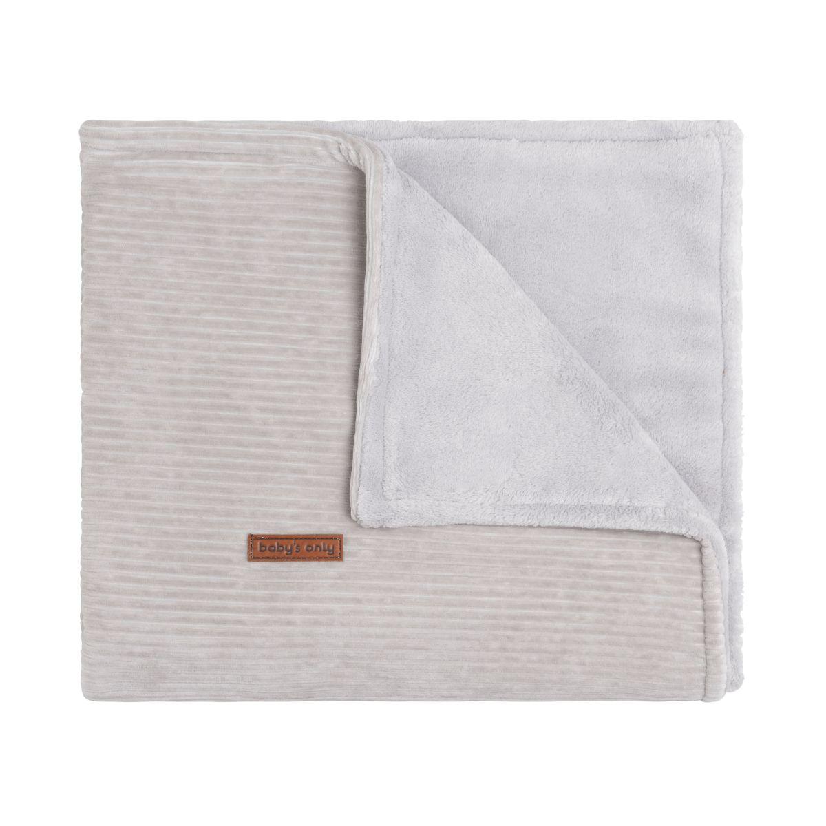 couverture berceau teddy sense caillou gris
