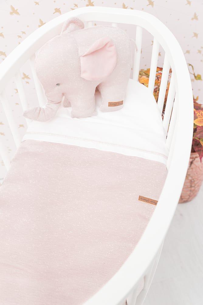 couverture berceau teddy sparkle roseargent ml