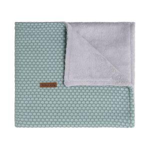 Couverture berceau teddy Sun mint/stonegreen