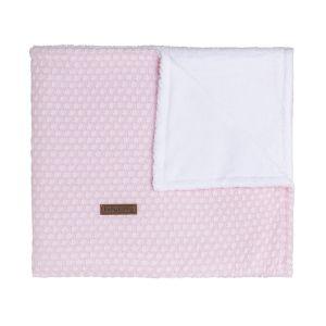 Couverture berceau teddy Sun rose très clair/rose
