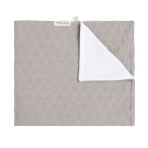 Couverture berceau velours Reef urban taupe