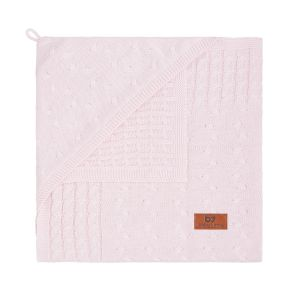 Couverture enveloppante Cable rose très clair
