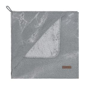 Couverture enveloppante Marble gris/gris argenté