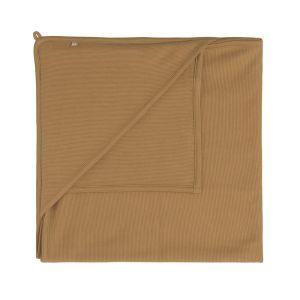 Couverture enveloppante Pure caramel - 75x75