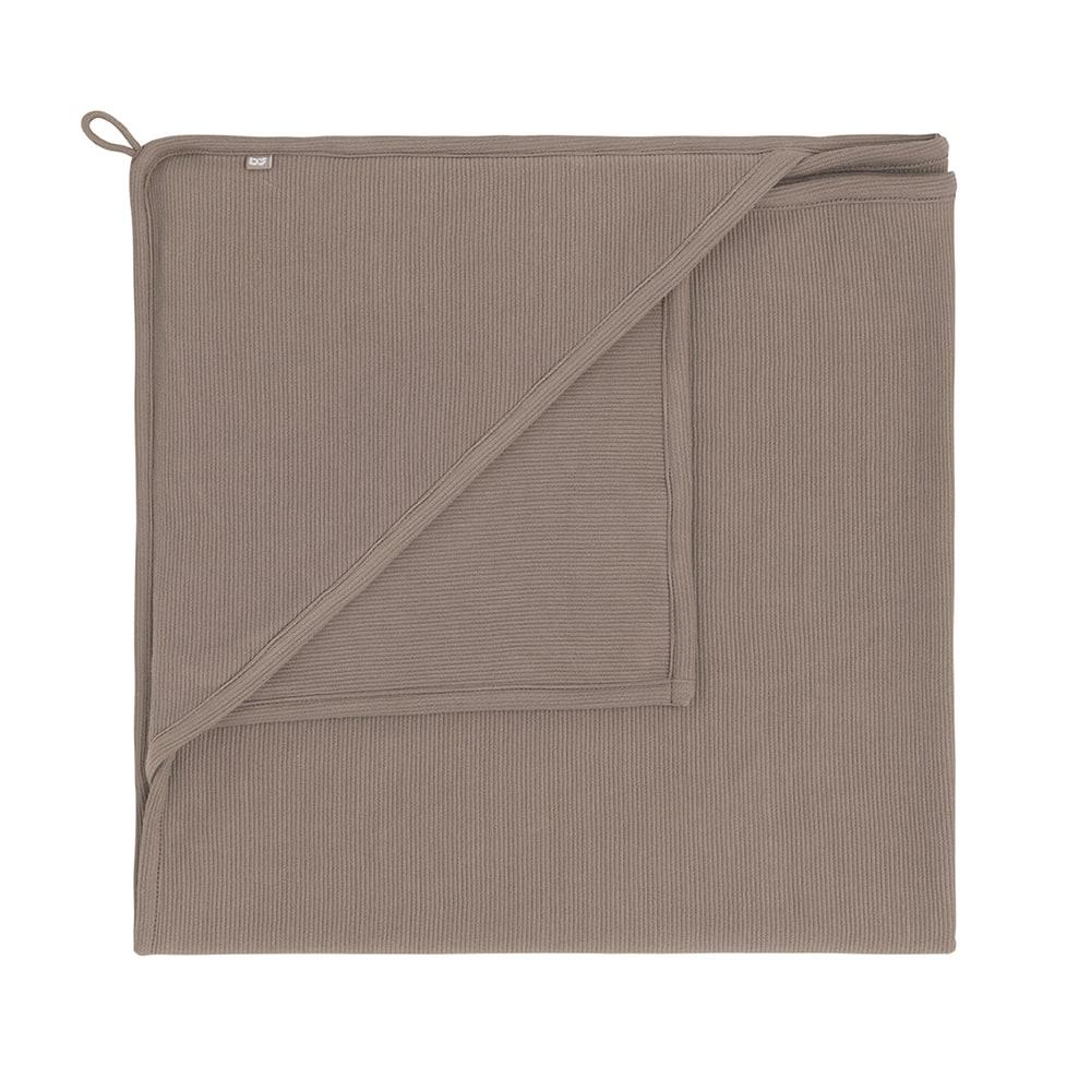 couverture enveloppante pure moka 75x75