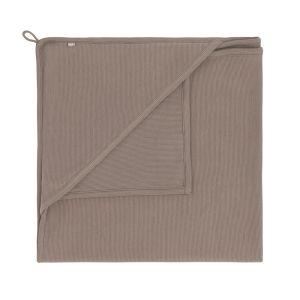 Couverture enveloppante Pure moka - 75x75