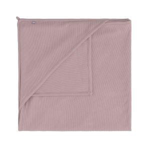 Couverture enveloppante Pure vieux rose - 75x75