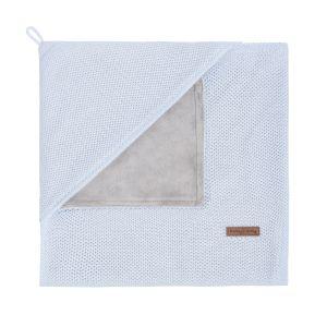 Couverture enveloppante soft Classic poudre bleu