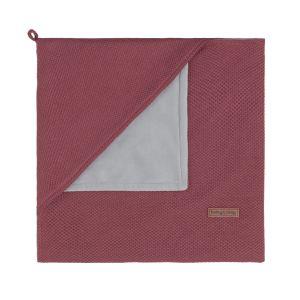 Couverture enveloppante soft Classic stone red