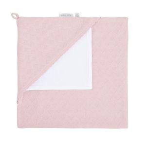 Couverture enveloppante velours Reef misty pink