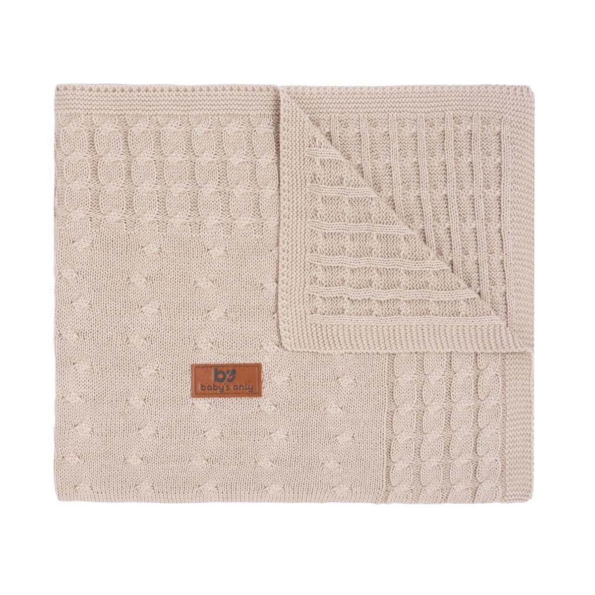 couverture lit bb cable beige