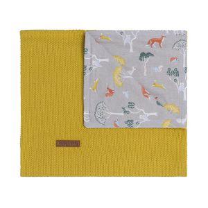Couverture lit bébé Forest mustard