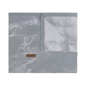 Couverture lit bébé Marble gris/gris argenté