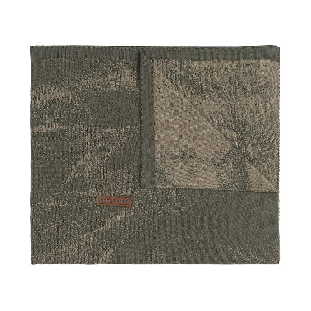 couverture lit bb marble khakiolive