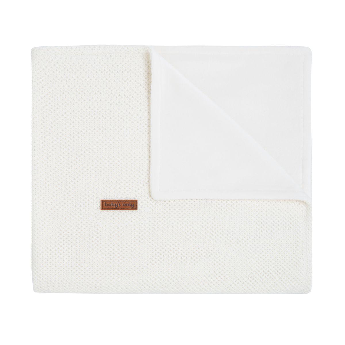 couverture lit bb soft classic blanc cass