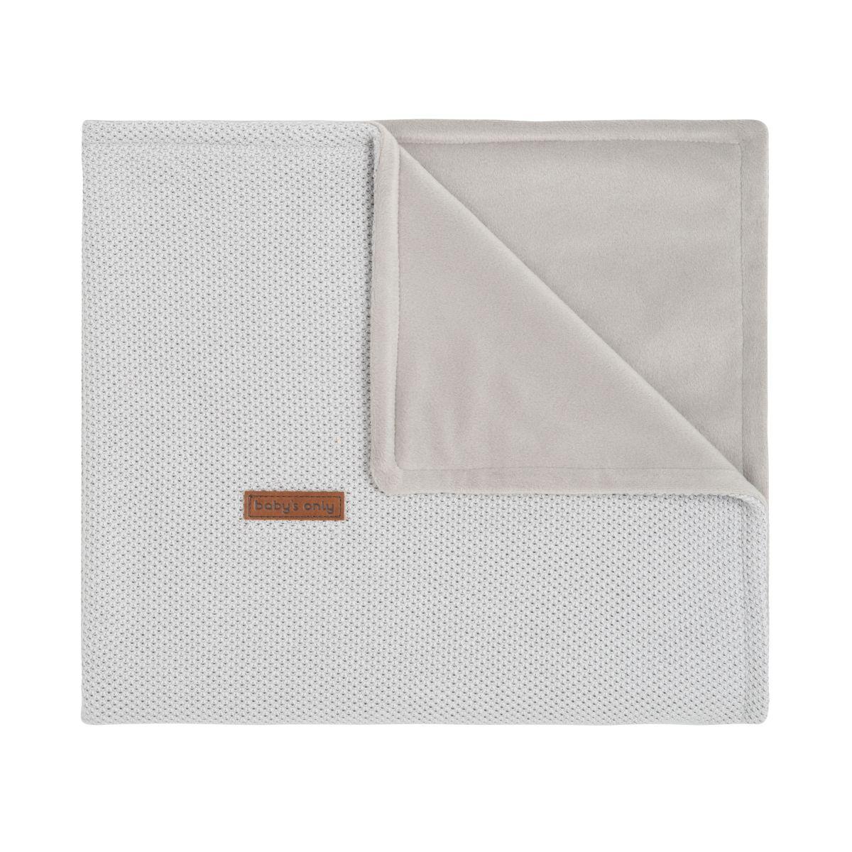 couverture lit bb soft classic gris argent