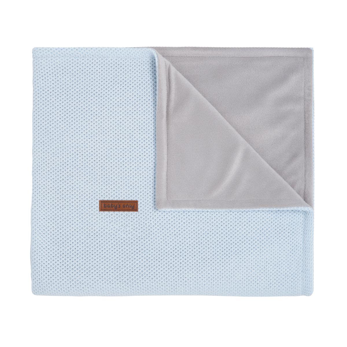 couverture lit bb soft classic poudre bleu