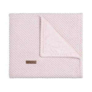Couverture lit bébé soft Flavor rose très clair