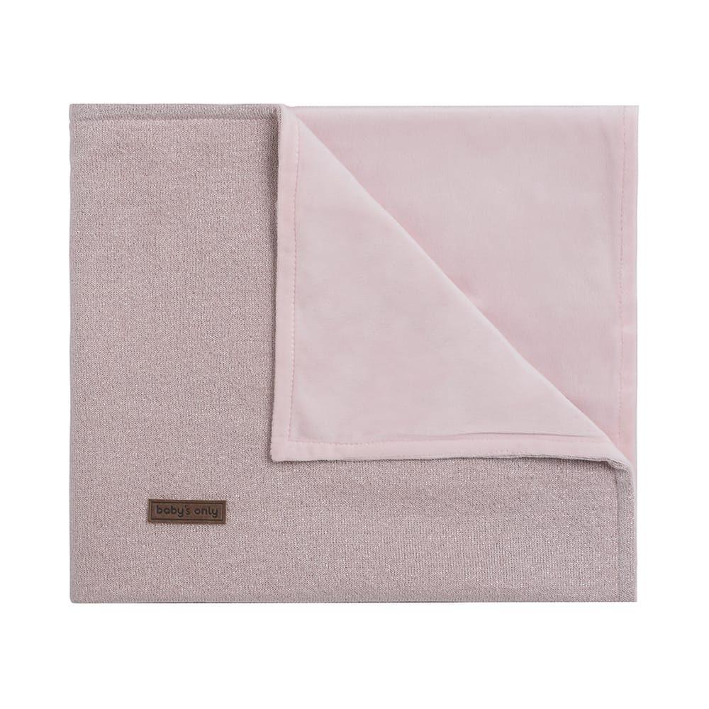 couverture lit bb soft sparkle roseargent ml