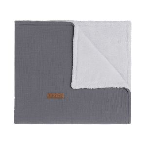 Couverture lit bébé teddy Breeze anthracite