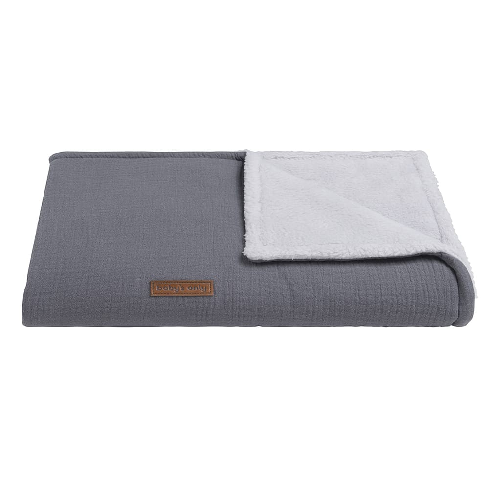 couverture lit bb teddy breeze anthracite