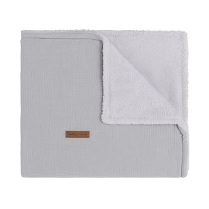 Couverture lit bébé teddy Breeze gris