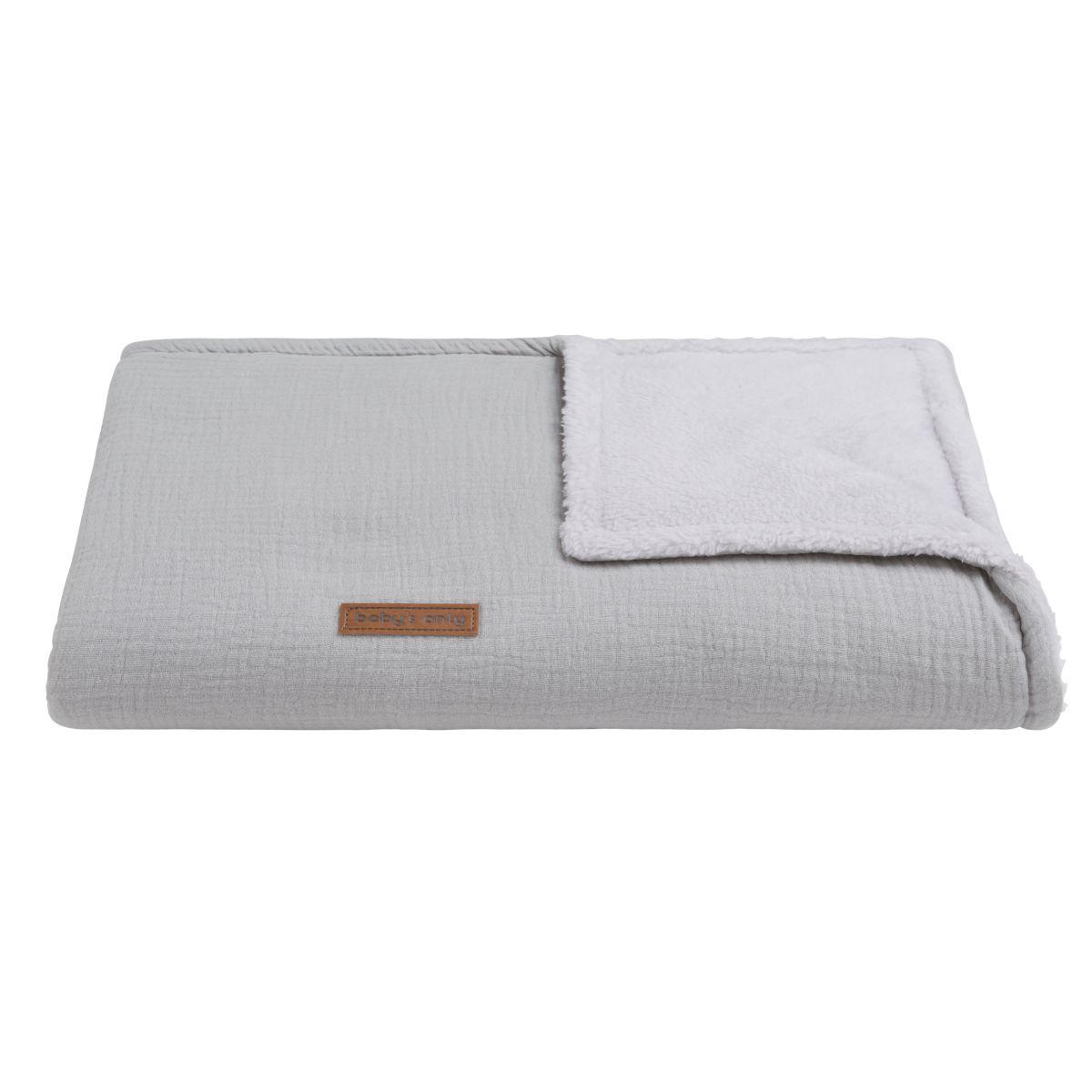couverture lit bb teddy breeze gris