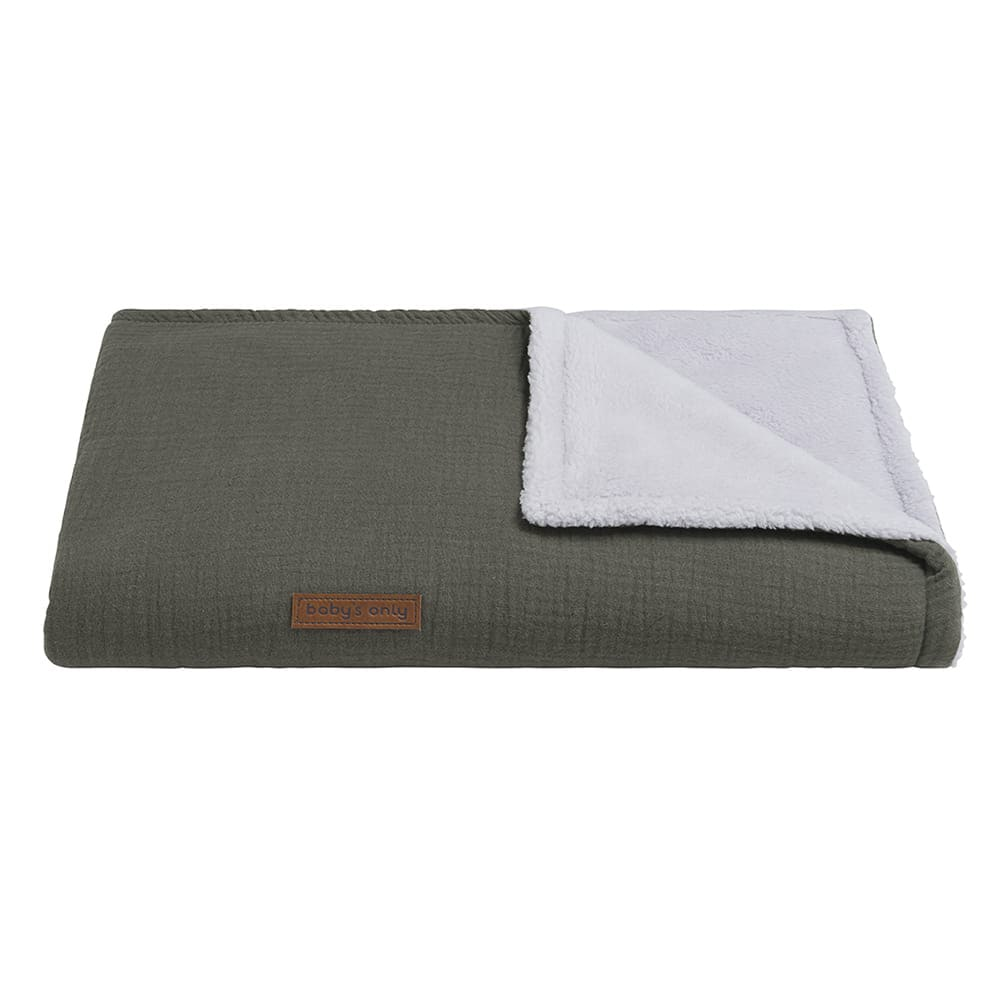 couverture lit bb teddy breeze khaki