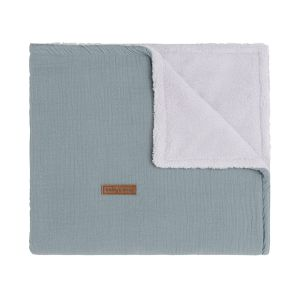 Couverture lit bébé teddy Breeze stonegreen