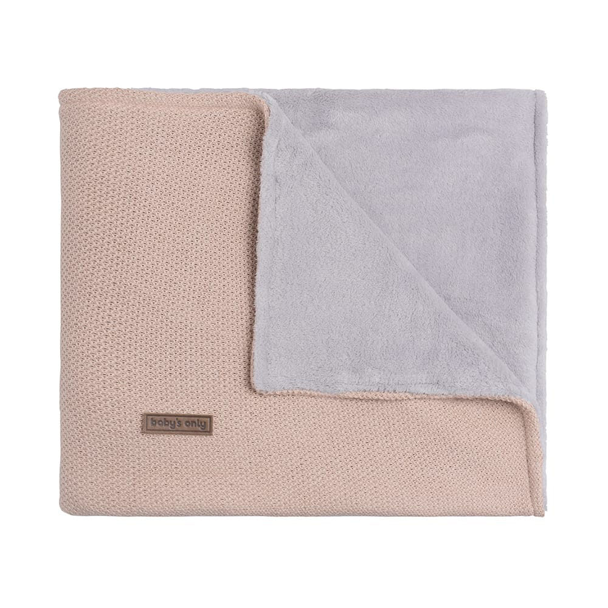 couverture lit bb teddy classic blush