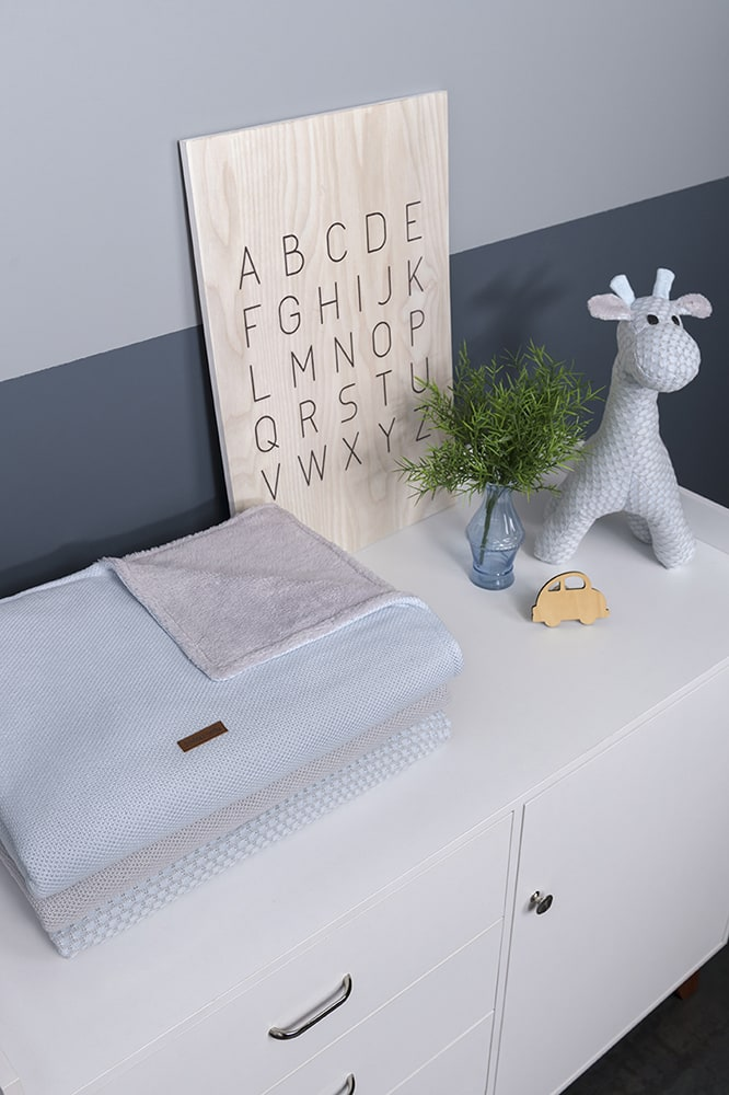 couverture lit bb teddy classic stonegreen