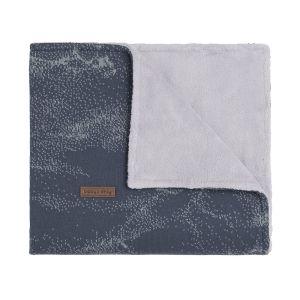 Couverture lit bébé teddy Marble granit/gris