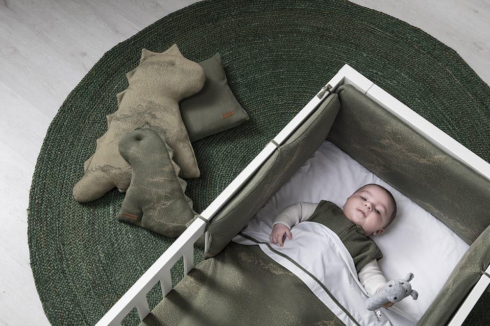 couverture lit bb teddy marble khakiolive