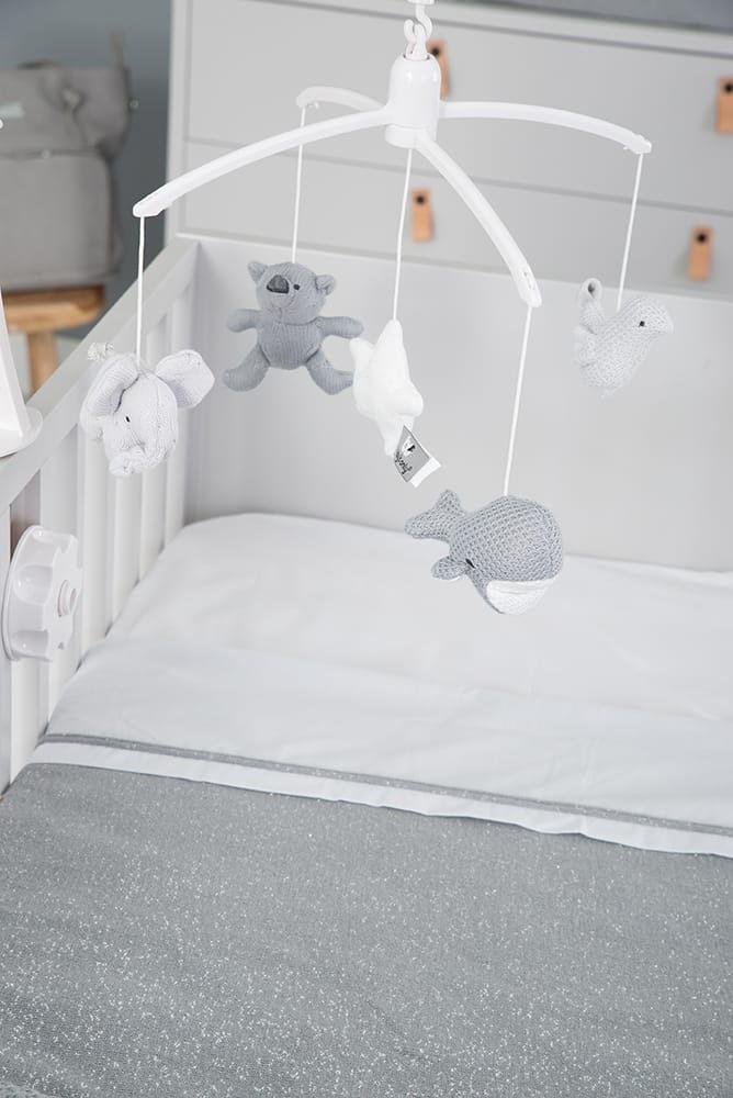 couverture lit bb teddy sparkle grisargent ml