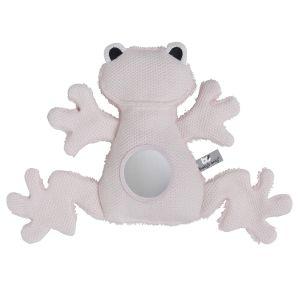 Doudou d'éveil grenouille rose très clair