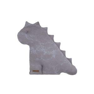 Doudou dino Marble cool grey/lilas - 40 cm