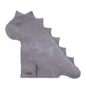 Doudou dino Marble cool grey/lilas - 55 cm