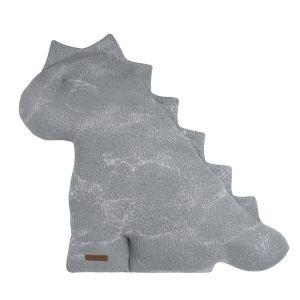 Doudou dino Marble gris/gris argenté - 40 cm