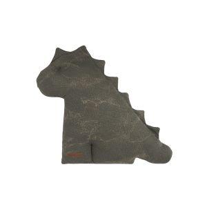 Doudou dino Marble khaki/olive - 40 cm