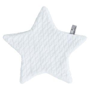 Doudou étoile Cable blanc