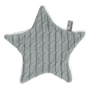 Doudou étoile Cable gris