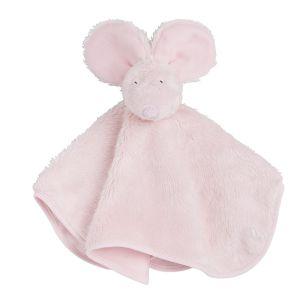 Doudou souris rose très clair