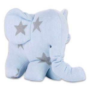Éléphant Star bleu ciel/gris