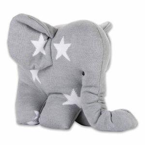 Éléphant Star gris/blanc