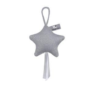Étoile déco Sparkle gris-argent mêlé