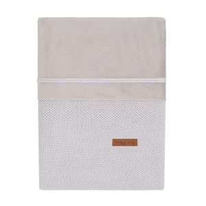Housse de couette Classic gris argent - 100x135