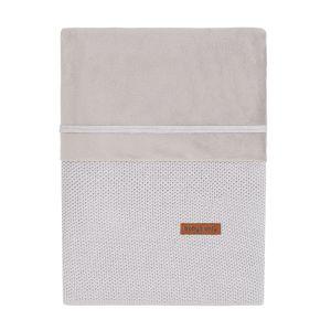 Housse de couette Classic gris argent - 80x80