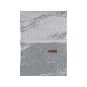 Housse de couette Marble gris/gris argenté - 100x135