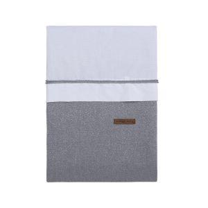 Housse de couette Sparkle gris-argent mêlé - 100x135